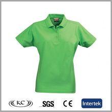 100% cotton popular hotsale green women polo t-shirt manufacturer in lahore