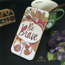 3D Sublimation Phone Case ultra slim aluminium metal bumper case with tempered glass back cover for iPhone 6 4.7