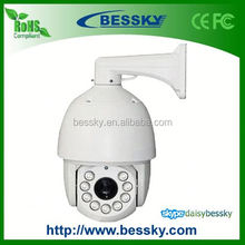 "HD 1080P 6"" High Speed Dome IP Camera ptz cctv camera junction box"