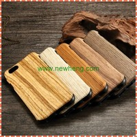2015 Hot selling Wooden Skin Soft Rubber TPU Back Cover Case for iphone 6