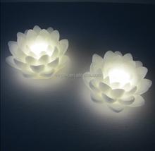 Votive Warm White Lighting Flameless LED Holy Lotus-shaped Wax Candle Light