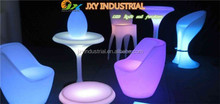 LED party/event furniture user-friendly PE rechargeable RGB colorful long service life remote control Led Arm Chairs For Bar
