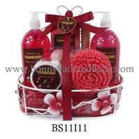 Luxury Cranberry spa Bath Gift Set