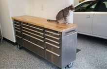 15-Drawer Rolling Workbench , worktable, work table, commercial, industrial, garage, basement, study, warehouse or event room