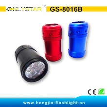 GS-8016B Factory aluminum promotional gifts led button battery lights mini flashlight