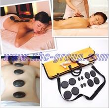 2015 factory outlets basalt hot stone massage set warmer