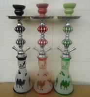 middle size glass hookah 2 hose shisha camel sale domino