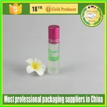 toiletry packing plastic bottle roll on cosmetic plastic bottle