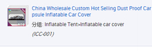 Inflatable Tent With Good Price car cover inflatable