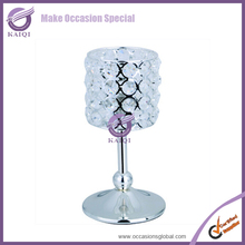K4578 cheap crystal bead candle holders/wedding plastic candelabra centerpieces
