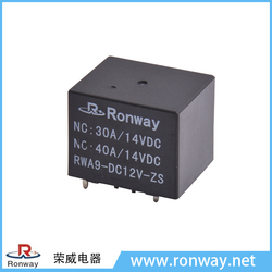 Ronway cheap price auto model RWA9 DC12V 40A 14VDC relay for car