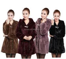 Cheap Women's Winter Warm Long rex rabbit fur coat on sale