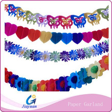 Party tissue garland paper flowers for wedding and festival