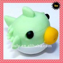 2014 NEW hAPPY CUTE FANCY SHAPED RUBBER BIRD ERASER FOR PROMOTIONAL GIFT WITH BLISTER