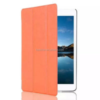 Ultra slim case for ipad mini 4 Tri-folding Smart leather case ultra thin with back cover case
