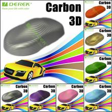 Carbon Fiber 3D Silver Auto Used Self-adhesive Vinyl Film