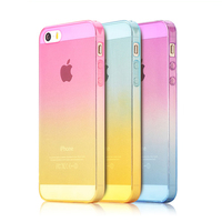 New Gradient Transparent Soft Silicone Ultra thin Case for iPhone 5 5s 5g 4 4s cover 5 Phone Slim Protect Shell Cover