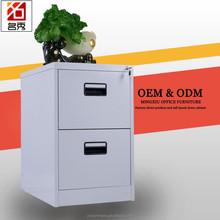 Steel 2 drawer grey waterproof storage cabinet