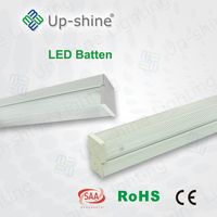 Upshine lighting factory SMD2835 High lumen 100-240V 3000K 5 years warranty batten strip with CE Rohs SAA certifications