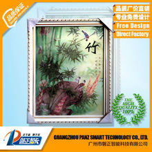 Natural bamboo 3D Lenticular picture with frame wall decorative hanging picture