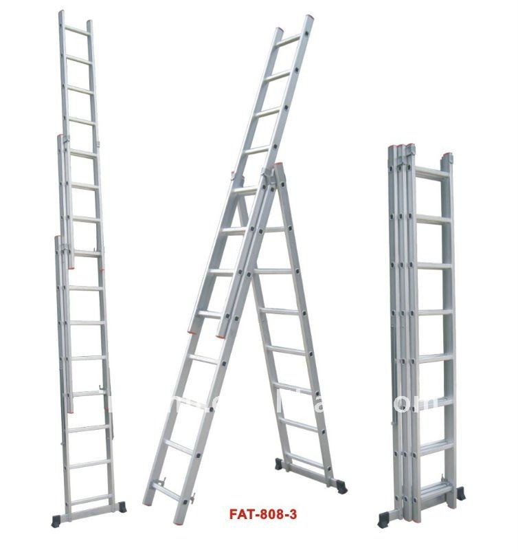 3 Section Extension Ladder : Aluminium ladder aluminum three section extension
