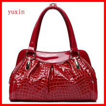 Ladies luxury genuine crocodile skin handbag