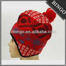 Hight quality crochet beanie hat with ear muff for girls