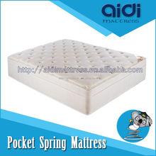 AG-1308 High quality CFR1633 or UFRK fire resistant pocket springmattress/fireproofed pocket spring mattress