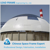Prefab Lightweight Dome Steel Space Frame for Coal Storage