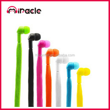 Novetly shoe lace earphone headset with detachable cable