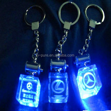 Popular Personalized Car Key Chain / LED Light Crystal Keychain/ Sell Well Souvenir Gift Crystal