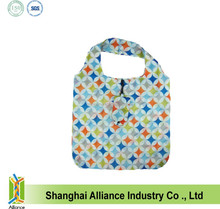 ECO Friendly Sublimation Printing Nylon Folded Shopping Tote Bag With Button