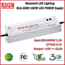 Meanwell LED Driver HLG-150H-12 (150W 12V 12.5A) Single OutPut 150W 12 Volt Switching Power Supply Built-in PFC And Dimmable