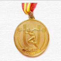 2015 Trophy components sports souvenir gift gold Medal with Ribbon