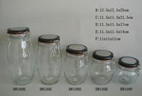set of 4 hermetic glass storage jar with screw cap