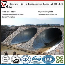 With screw corrugated galvanized steel culvert pipe used in the road construction the culvert or drainage corrugated steel pipe