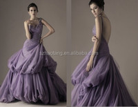 HT5229 Elegant sweetheart neckline strapless lilac vintage wedding dress without trains