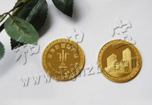 nice looking custom pure gold coins