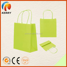 2015 New Design Colorful Recyecled Craft Shopping Handles Paper Bag