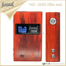 The Most Popular Items 2014 High Quality Luxyoun Unik 150W Wood Box 2200Mah Battery E Cig