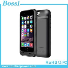 External battery charger case 3600mah portable power bank case for iphone 6 power case rechargeable battery case in power banks