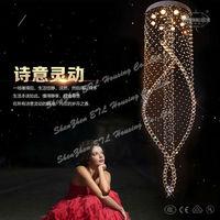 2015 modern spiral crystal Chandelier lightings for Australia ETL82098