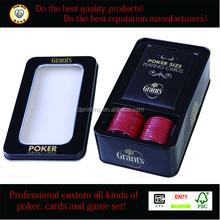 poker chip game set in tin box, high-end poker chip game set