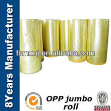 Hot Sales Size 1260mm*4000M Opp Jumbo Roll Adhesive Cutting Tape
