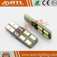 Long life time factory supply canbus t10 led for car