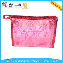 Fashion Zipper diaphanous Unique designer cheap wholesale cosmetic bag
