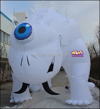 5m high white giant inflatable cartoon monster