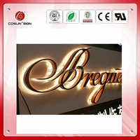 High quality custom made LED metal backlit sign for shop