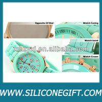 details geneva brand silicone wrist watches