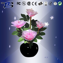 Hot sale LED Color changing fiber optic silk flowers/Holiday flowers with CE and ROHS